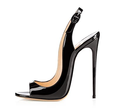 Peep Toe High Heels 12CM Sandalen Yezhhco