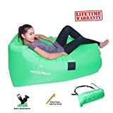 Holla Yella Inflatable Air Lounger Key Features:           - Super Heavy Duty Construction:            Outer Bag: 210T Nanometer Nylon Fabric, the most durable fabric available for long life and maximum comfort     Inner Bag: Heavy Duty Polye...