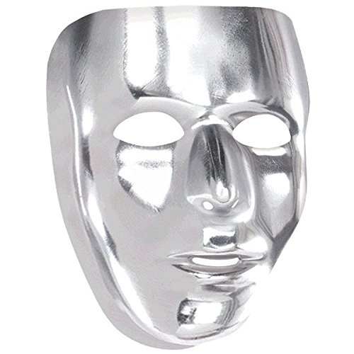 amscan Face Mask | Solid Silver -