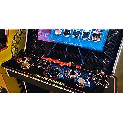 Alvatron Set of 2 Joystick Bat Tops for Arcade1up, AtGames Legends Ultimate Arcade, Pandora's Box, Street Fighter 2 Final Fight Marvel Super Heroes Mortal Kombat NBA JAM TMNT Burger Time (Blue/Black): Toys & Games