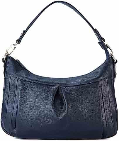 GRM Genuine Leather Shoulder Bag Hobo Handbag Crossbody Bag for Women Ladies b54342f7e8745