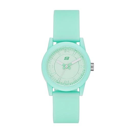 272d9918e9e3 Skechers SR6035 Reloj Análogo para Mujer con Correa de Silicon ...