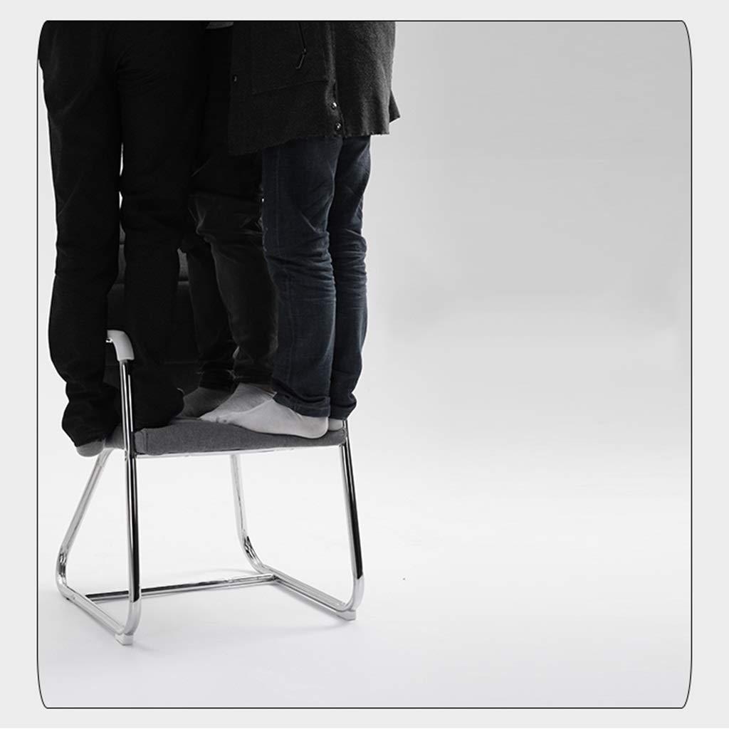 Zhou-WD bekväm PU-stol, slitstark lätt att rengöra mottagningsstol arbetsrum kontor konferensstol student lärande stol kontor möbler Vitt Rosenröd