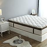 Beauty Sleep Memory Foam 12 Inch Mattress. Luxury medium Comfort, Supercool Technology Fiber Comfort Layer, Bounce Gel Memory Foam Contour Layer, High Density Firm 1000 Pocketed Coil 3 Zone (Queen)