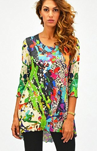 Amma Design Wonder Splash women's 3/4 sleeve tunic