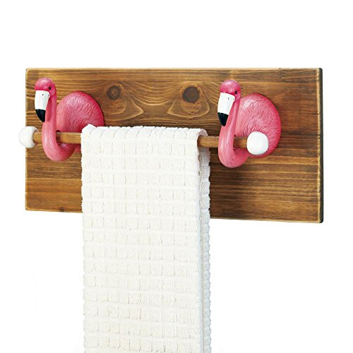 (Accent Plus Flamingo Towel Holder, Multi Colour)