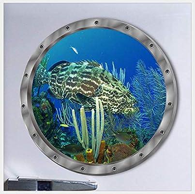 Zipei Mar de Fondo Feo Pescado Lavadora Sala de Estar Decorativos ...