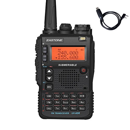 Zastone UV-8DR Three Band Walkie Talkie 136-174 / 240-260 / 400-520Mhz Portable Ham CB Radio Transceiver