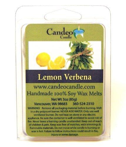 Lemon Verbena、スーパー香りつきで使用大豆の樹脂キューブ、パック2- Tart Warmers、ティーライトウォーマー、油WarmersまたはScentsy Warmers 。 B00JU6IJJO