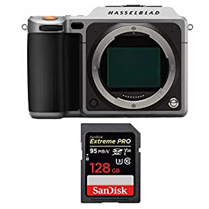 Hasselblad X1D-50c 50mp Medium Format Mirrorless Digital Camera (Body Only) & 128GB SD Card