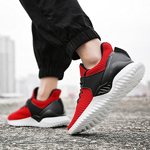 Sole Men's Sneakers Lightweight Athletic Casual Mesh Shoes Breathable Soft Running Fashion Red wIxvrq1I6