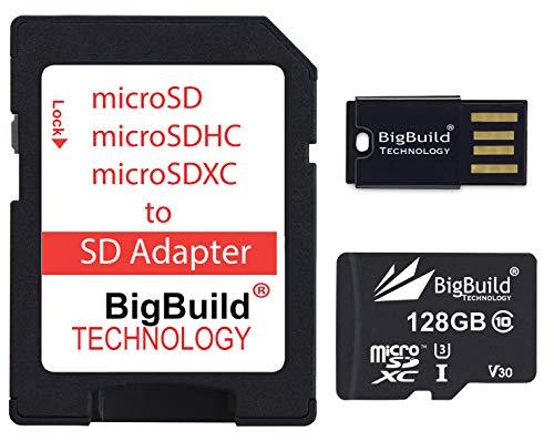 eMemoryCards 128GB Ultra Fast 100MB/s U3 microSDXC Memory Card For Sony Handycam HDR-CX405, HDR-PJ410B Camcorder