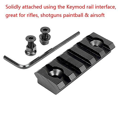Feigo 5 Slot 2.2 inch Rail Section for Keymod/Picatinny Handguard Mount Rail System(2 Pack)