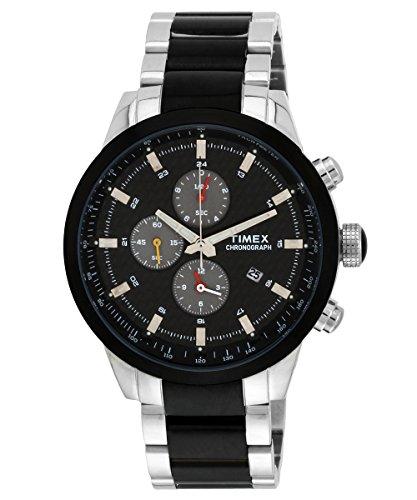 Timex E Class Chronograph Black Dial Men #39;s Watch   TW000Y405