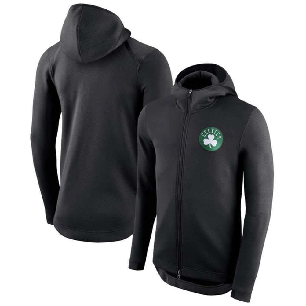 ZGJY Maglia con Cerniera Boston Celtics Basketball Hoodie Pullover con Cappuccio Sciolto Felpa da Uomo e Donna T-Shirt Allenamento Manica Lunga