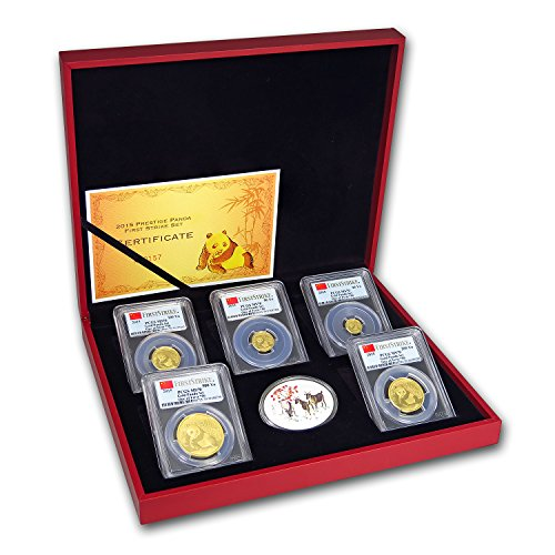 (2015 China 5-Coin Gold Panda Prestige Set MS-70 PCGS (FS) MS-70 )