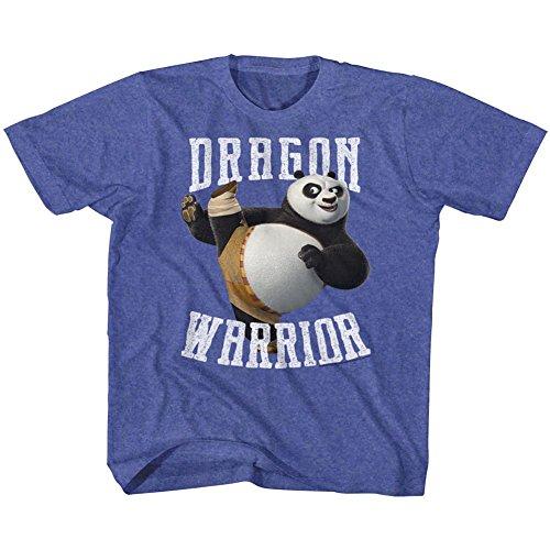 American Classics Kung Fu Panda Movie D Warrior Royal Heather Toddler Little Boys T-Shirt Tee