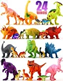 Shoof Dinosaur Toys Set for Boys & Girls – 12 Large & 12 Small Toy Dinosaurs + Play Mat – BPA-Free Plastic Dinosaurs for School, Playtime, Party Supplies – Plastic Dinosaur Figures for Kids 3+