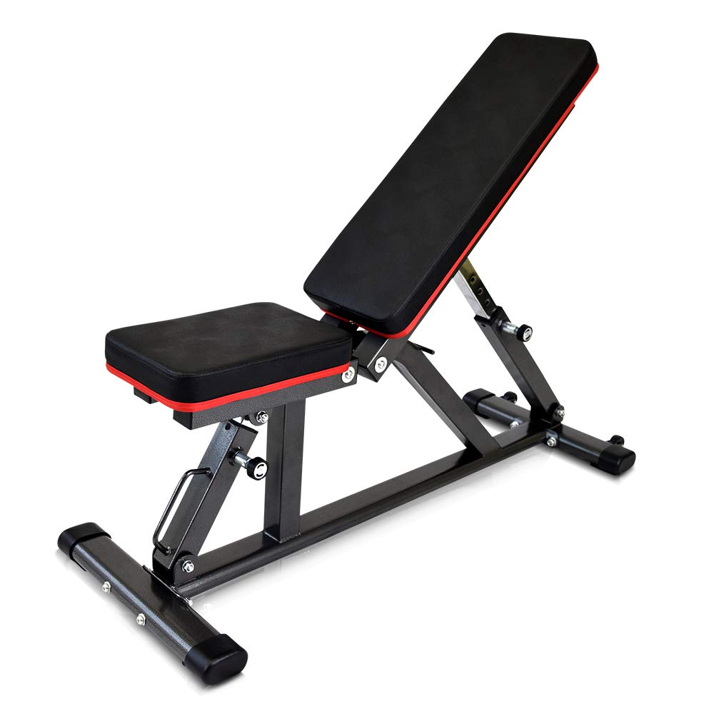 YouTen 800LBS Adjustable Flat Incline Decline Bench for Multi-Purpose, One-Touch Angle Adjustment & 40 Ways for Various Workouts, Easy Moving Utility Weight Sit Up Bench