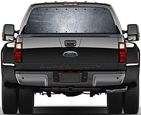 Amazoncom Riveted Metal Grunge Steel Plate Rear Window Decal - Custom car window decals metal