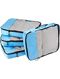 4-Piece Packing Cube Set - Large, Sky Blue