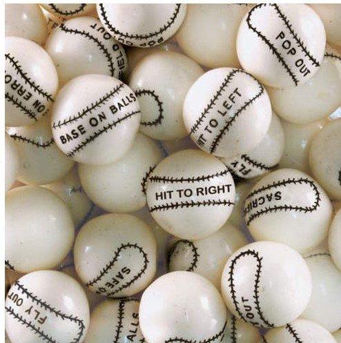 Dubble Bubble Baseball 24mm Gumballs 1 Inch, 2
