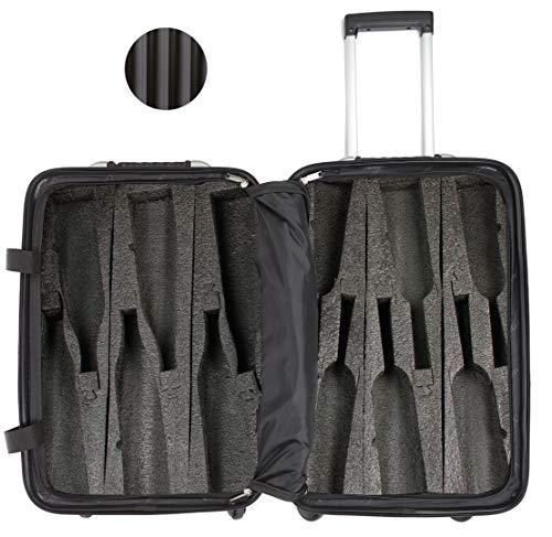 VinGardeValise - Up to 12 Bottles & All Purpose Wine Travel Suitcase -