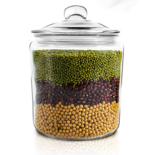 Masthome 1 Gallon Glass Jar With Fresh Sealed Lid Storage Container Used To Store Food And Make Medicinal Liquor Storage Jar