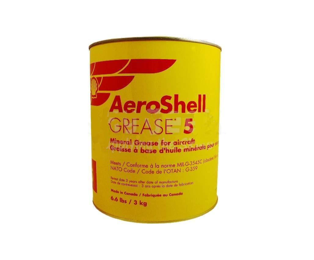 AeroShell Grease 5 High-Temperature Mineral Aircraft Grease - 3 Kg (6.6 lb) Can