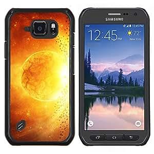 /Skull Market/ - Space Planet Galaxy Stars 48 For Samsung Galaxy S6 active/G870A/G890A (Not Fit S6) - Mano cubierta de la caja pintada de encargo de lujo -