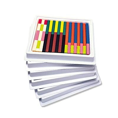 Learning Resources Cuisenaire Rods Multi-Pack: Plastic Rods, 6 Sets of 74: Office Products