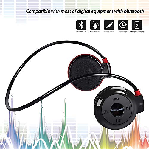 Neckband Head (Running Headphones Neckband Sports Earphones Bluetooth Wireless Sports Headset Over-Ear earbuds with Sweatproof, Hi-Fi Stereo,Built-In Microphone 6 Hours Playtime Black)