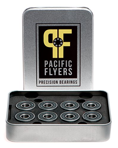 Pacific Flyers Premium Ceramic Si3N4 Silicon Nitride Skateboard Bearings / Set of 8 - Ceramic Nitride Bearing