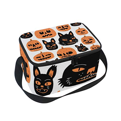 (DoubleCW Pumpkin Lunch Box Insulated Moisture Resistant Easy to Clean with Helpful Extras for Quick and Simple Organizor)