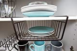 Home Basics Concord Collection Under the Shelf Basket for Kitchen Organization, Bronze (12'' Wide)