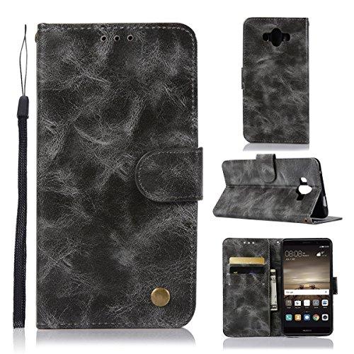 Huawei Mate 10funda, Gift _ Source [3ranuras para tarjetas] Premium, cera, aceite funda de piel PU Folio Flip Magnética...