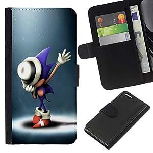 YiPhone /// Tirón de la caja Cartera de cuero con ranuras para tarjetas - S0nic Hedgehog - Apple Iphone 5C