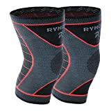 Rymora Knee Support Brace Compression Sleeves for Men and Women (Two Sleeves) (Medium) - for Joint Pain, Arthritis, Ligament Injury, Meniscus Tear, ACL, MCL, Running, Sports