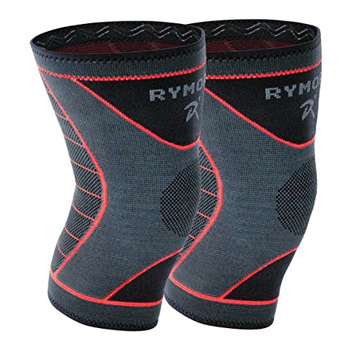 Rymora Knee Support Brace Compression Sleeves for Men and Women (Two Sleeves) (Medium) - for Joint Pain, Arthritis, Ligament Injury, Meniscus Tear, ACL, MCL, Running, Sports by Rymora
