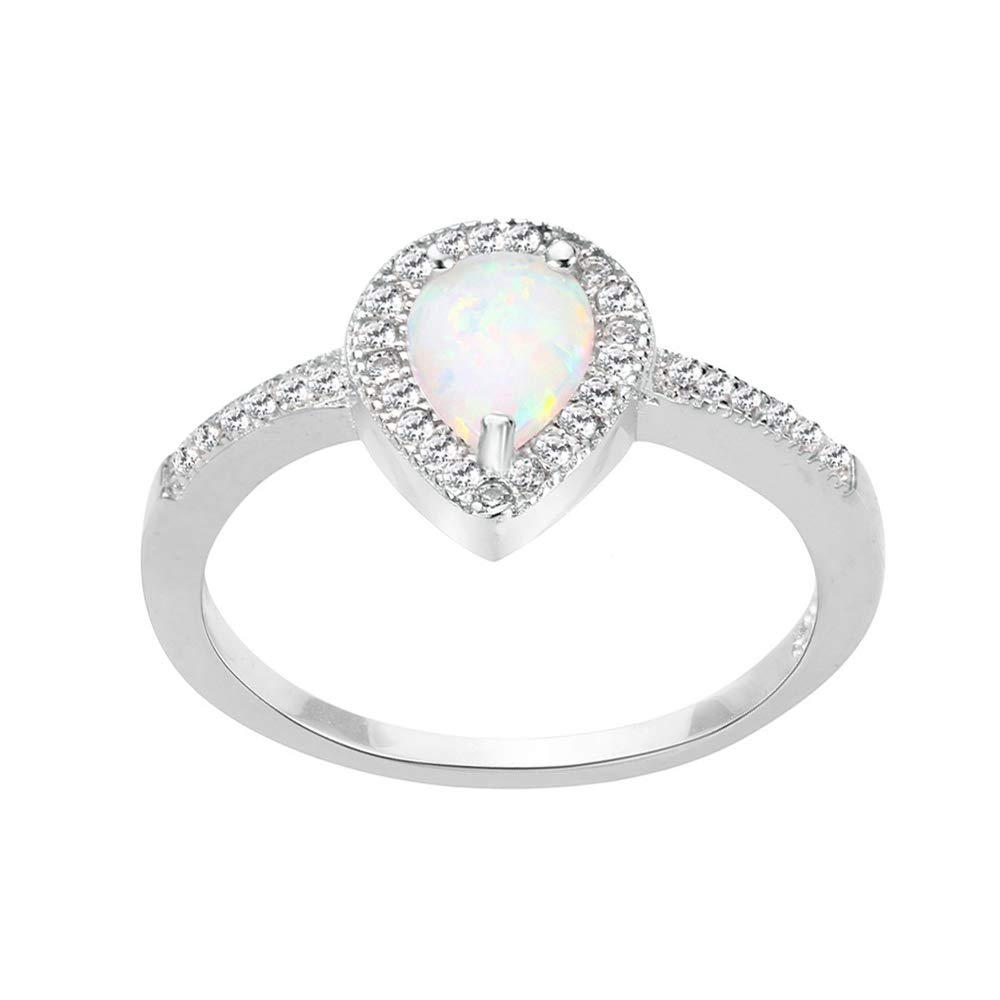 Color Options, Sizes 3-13 Princess Kylie Pear Cubic Zirconia Embraced Ring Sterling Silver