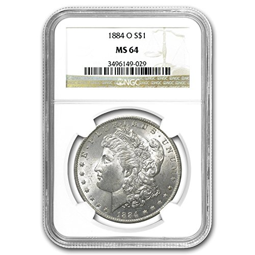 1884 O Morgan Dollar MS-64 NGC $1 MS-64 NGC
