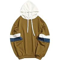 Bestow Abrigo de Invierno para Hombre Sudadera Suéter Chaleco Cazadora Patchwork Slim Fit con Capucha Outwear Blusa