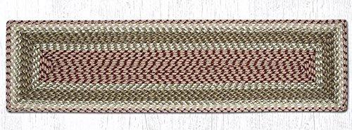 Earth Rugs 54-024 Tablerunner, 13x36, Olive/Burgundy/Gray