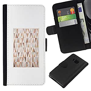 All Phone Most Case / Oferta Especial Cáscara Funda de cuero Monedero Cubierta de proteccion Caso / Wallet Case for HTC One M9 // 80S Art Drawing Painting Geometrical