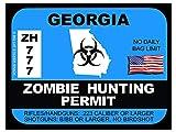 Georgia Zombie Hunting Permit(Bumper Sticker)
