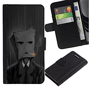 All Phone Most Case / Oferta Especial Cáscara Funda de cuero Monedero Cubierta de proteccion Caso / Wallet Case for Sony Xperia Z1 Compact D5503 // Smoking Paper Bag Man