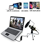 TKGOU Recording Microphone, Computer Microphone Sets With Tripod Stand & Pop Filter.. Product Photo