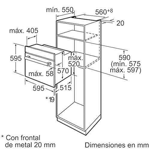 Bosch - Horno multifunción HBA42R350E con sistema de pre-limpieza: Amazon.es: Hogar