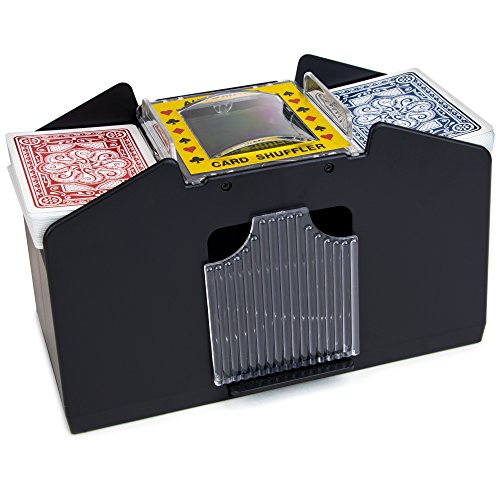 Card Shuffler Battery - Laser Sports Casino Deluxe Automatic 4 Deck Card Shuffler