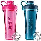 Blender Bottle Radian 32 oz. Tritan Shaker Bottle with Loop Top 2 Pack ( Pink : Deep Sea Green)